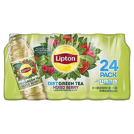 Lipton Diet Green Iced tea with Mixed Berry (16.9 oz., 24 pk.)