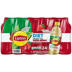 Lipton Diet Green Tea with Mixed Berry (16.9 oz. bottles, 24 pk.)