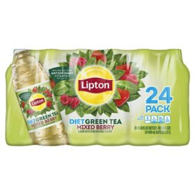 Lipton Diet Green Iced tea with Mixed Berry (16.9 oz., 24 pk)