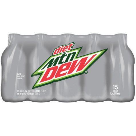 Diet Mountain Dew (16 oz. bottles, 15 pk.)