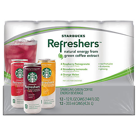 STARBUCKS REFRESHERS 12/12OZ CAN