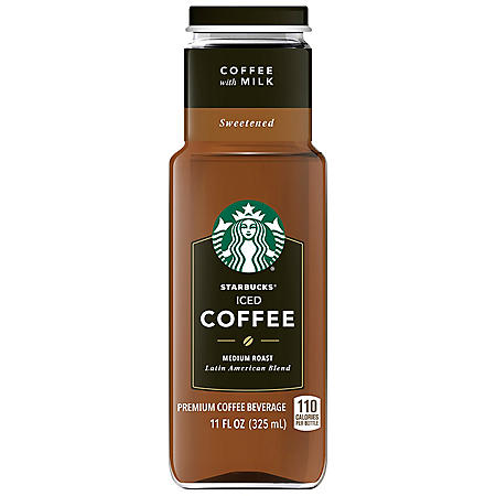 Starbucks Iced Coffee + Milk (11 oz. bottles, 12 pk.)