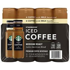 Starbucks Iced Coffee Variety Pack (11 oz. ea., 12 pk.)
