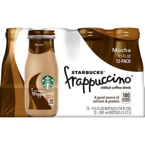 Starbucks Frappuccino Coffee Drink, Mocha (9.5 oz. bottles, 12 pk.)