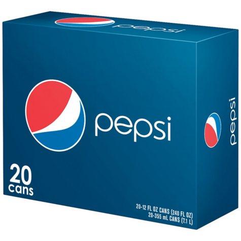 Pepsi - 12 oz. Cans - 20 ct.