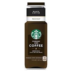 Starbucks Black Iced Coffee, Sweetened (11 oz. bottle)