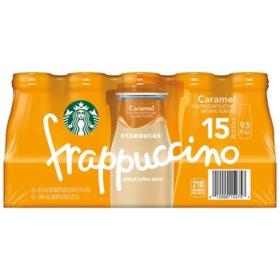 Starbucks Frappuccino Coffee Drink, Caramel Flavor (9.5 oz., 15 pk)