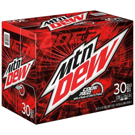 Mountain Dew Code Red (12 oz. cans, 30 ct.)