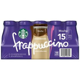 Starbucks Frappuccino Coffee Drink, Mocha (9.5 oz., 15 pk.)