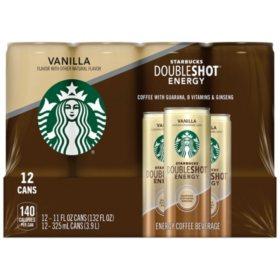Starbucks Doubleshot Energy Coffee Beverage Vanilla 11 Oz