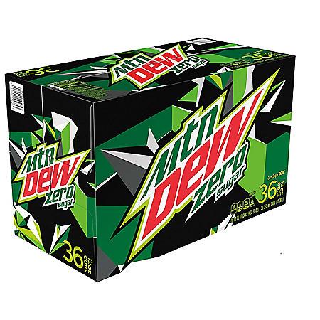 Mountain Dew Zero Sugar (12 oz. cans, 36 pk.)