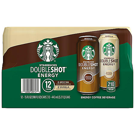 Starbucks Doubleshot Energy, Mocha and Vanilla Variety Pack (15 oz., 12 pk.)