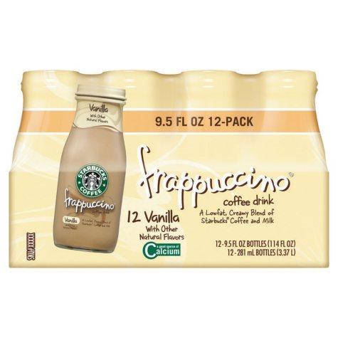 Starbucks Frappuccino Coffee Drink, Vanilla (9.5 oz. bottles, 12 pk.)