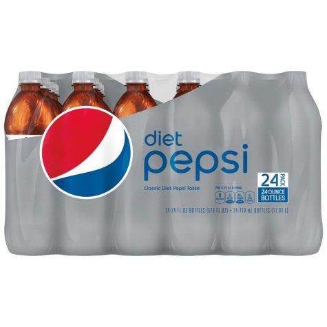 Diet Pepsi (24 oz. bottles, 24 pk.)