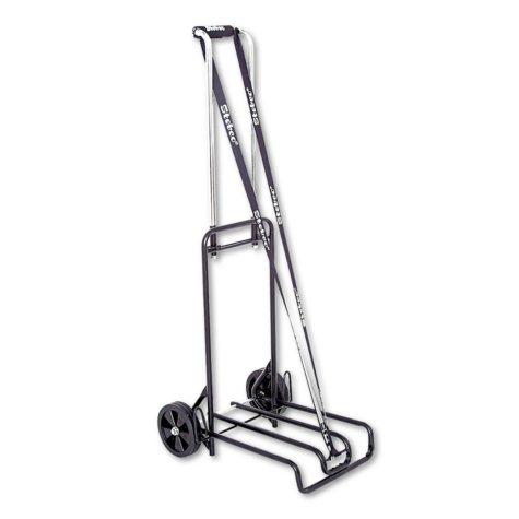 Stebco - Luggage Cart, 250lb Capacity, Black/Chrome