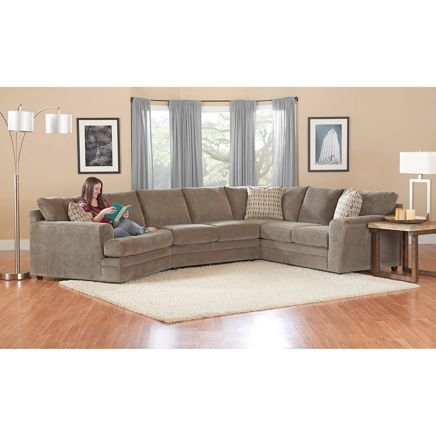 1699 00 Prestige Ashburn Sectional Sofa Dealepic