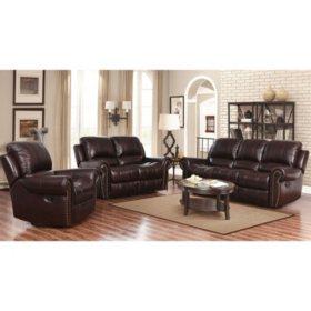 Sensational Bentley Top Grain Leather Recliner Sofa Loveseat And Machost Co Dining Chair Design Ideas Machostcouk