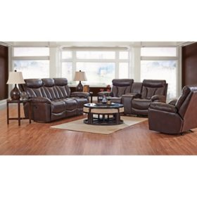 Klaussner XL Performance Deluxe 3-Piece Set: Reclining Sofa, Loveseat and Chair (Assorted Colors)
