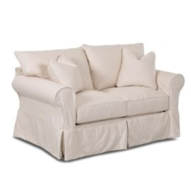 Klaussner Kari Slipcovered Loveseat (Assorted Colors)