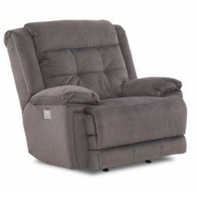 Mccann Power Rocking Reclining Chair With Power Headrest Lumber Support Extended Footrest Bluetooth
