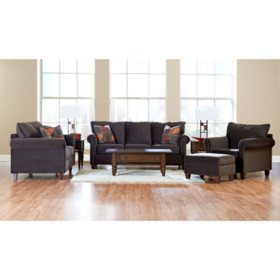 Prestige Loren Sofa, Loveseat, Chair and Ottoman Collection