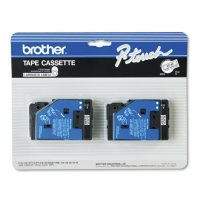 """Brother P-Touch - TC-20 Label Tape, 1/2"""" - Various Colors"""