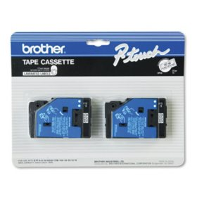 "Brother P-Touch - TC-20 Label Tape, 1/2"" - Various Colors"