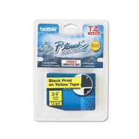 Brother P-Touch - TZ Standard Adhesive Laminated Labeling Tape, 3/4w -  Black on Yellow