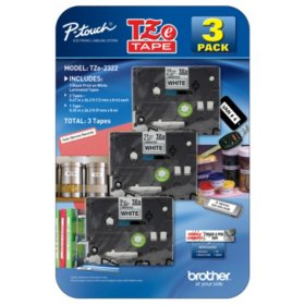 Brother P-Touch - Label Tape Assorted Pack - (2) TZe231 & (1) TZe221