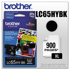 Brother LC65HY Innobella High Yield Ink Cartridge, Select Color (900 Page Yield)