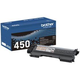 Brother - TN450 High Yield Toner Cartridge, Black - Save $5 with purchase of Member's Mark Multipurpose Copy Paper Case