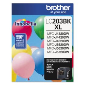 Brother LC203BK High-Yield Ink, Black (550 Page Yield)
