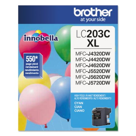Brother LC203C High-Yield Ink, Cyan (550 Page Yield)