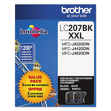 Brother LC2072PKS Super High-Yield Ink, Black (1200 Page Yield, 2 pk.)