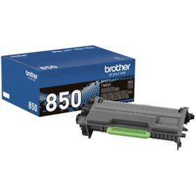 Brother TN850 High-Yield Toner, Black - Save $10 with purchase of Member's Mark Multipurpose Bright Copy Paper Case