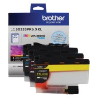 Brother INKvestment LC30333 Super High Yield Ink Color Combo Pack, 1500 Pg-Yield, Cyan/Magenta/Yellow