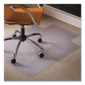 ES Robbins® Natural Origins Chair Mat with Lip For Carpet, 36 x 48, Clear