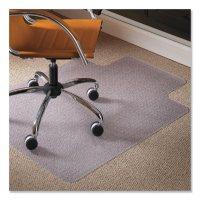 ES Robbins® Natural Origins Chair Mat with Lip For Carpet, 45 x 53, Clear