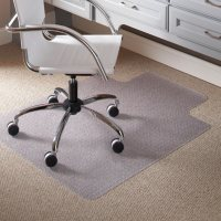 """ES Robbins® Task Series Chair Mat with AnchorBar for Carpet up to 0.25"""", 36 x 48, Clear"""