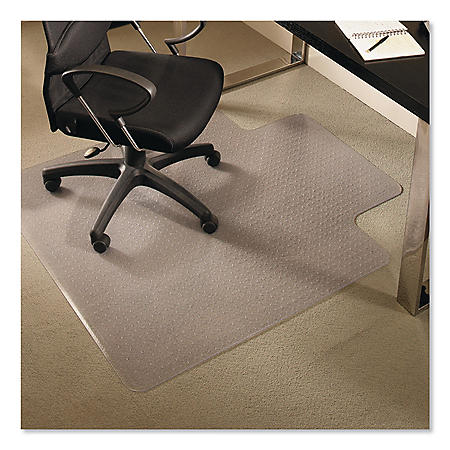 ES Robbins® EverLife Chair Mats for Medium Pile Carpet With Lip, 36 x 48, Clear