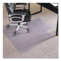 "ES Robbins® Performance Series AnchorBar Chair Mat for Carpet up to 1"", 45 x 53, Clear"