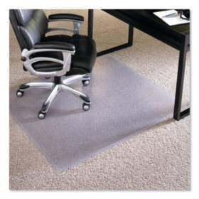 "ES Robbins® Performance Series AnchorBar Chair Mat for Carpet up to 1"", 46 x 60, Clear"