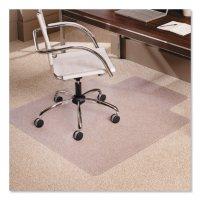 "ES Robbins® Multi-Task Series AnchorBar Chair Mat for Carpet up to 0.38"", 45 x 53, Clear"