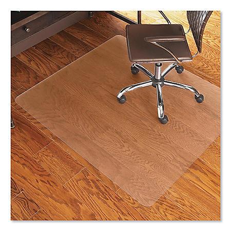 ES Robbins® Economy Series Chair Mat for Hard Floors, 46 x 60, Clear