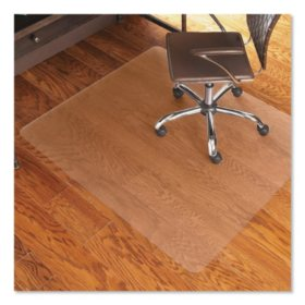 ES Robbins® Economy Series Chair Mat for Hard Floors, 46 x 60, Clear