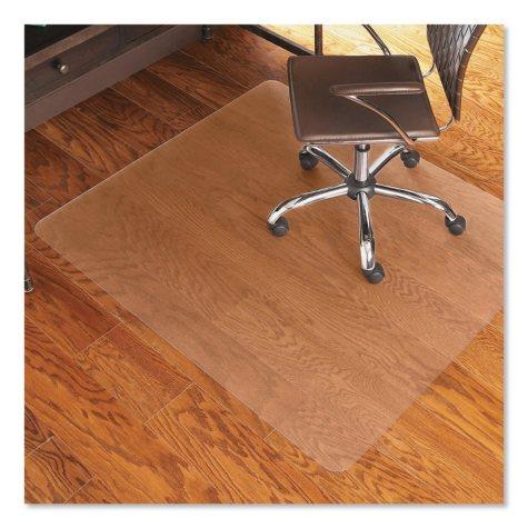 "ES Robbins 46"" x 60"" Economy Rectangular Chairmat, Clear"