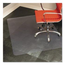 "ES Robbins 46"" x 60"" Heavy-Duty Rectangular Chairmat Hard Floors, Clear"
