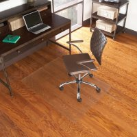 """Chair Mat for Hard Floor 36""""x 48"""" Rectangle, Clear"""