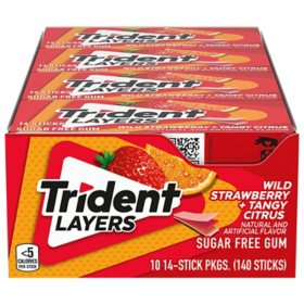Trident Layers Strawberry & Citrus Sugar Free Gum (10 pk.)
