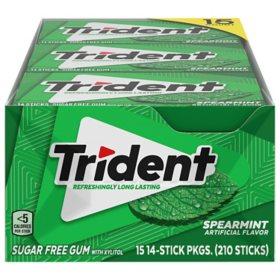 Trident Spearmint Sugar-Free Gum (14 ct., 15 pks.)